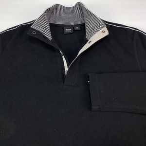 Hugo Boss Men's 1/4 Snap Button Sweater Size XL